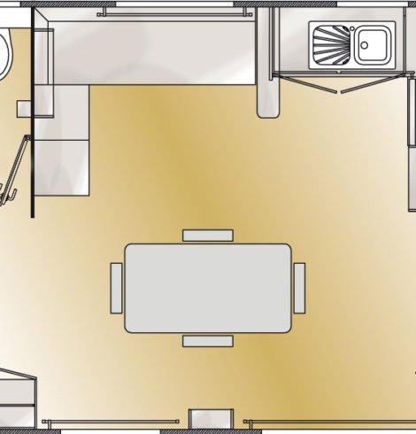 Plan du mobil-home confort 3 chambres