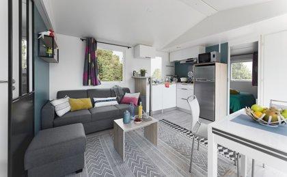 Séjour du mobil-home confort 3 chambres